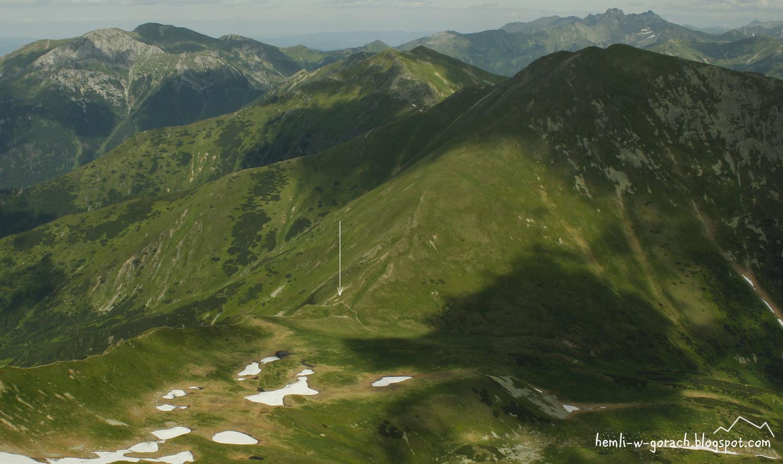 Widok na Pyszniańską Przełęcz z Bystrej