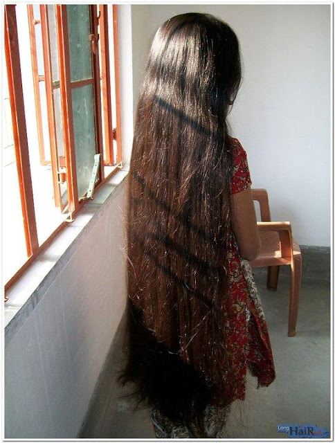 Long beautiful tresses