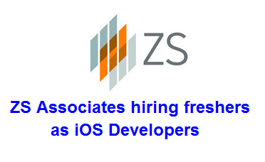 ZS Associates hiring freshers as iOS Developers