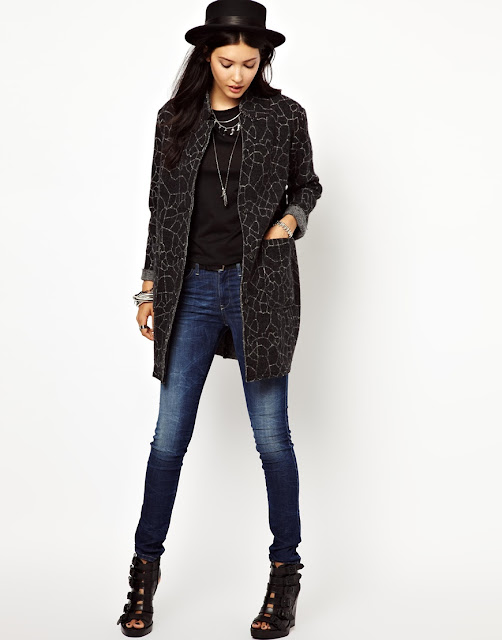 diesel patterned coat