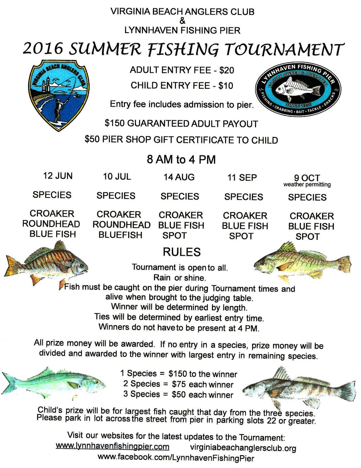 Lynnhaven fishing pier fishing report for fri july 8th for Va beach fishing report