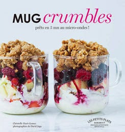 livre mug crumble marabout micro-ondes cake