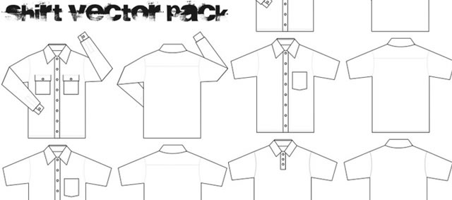 Collar T-Shirt Template Vector