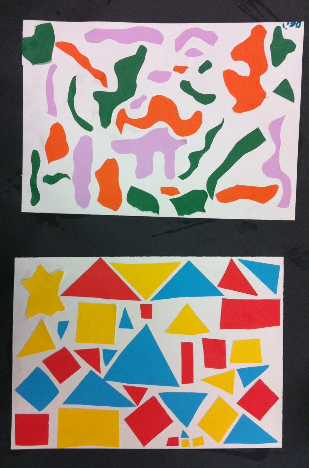 Shape Art : Art room nd grade shape collages