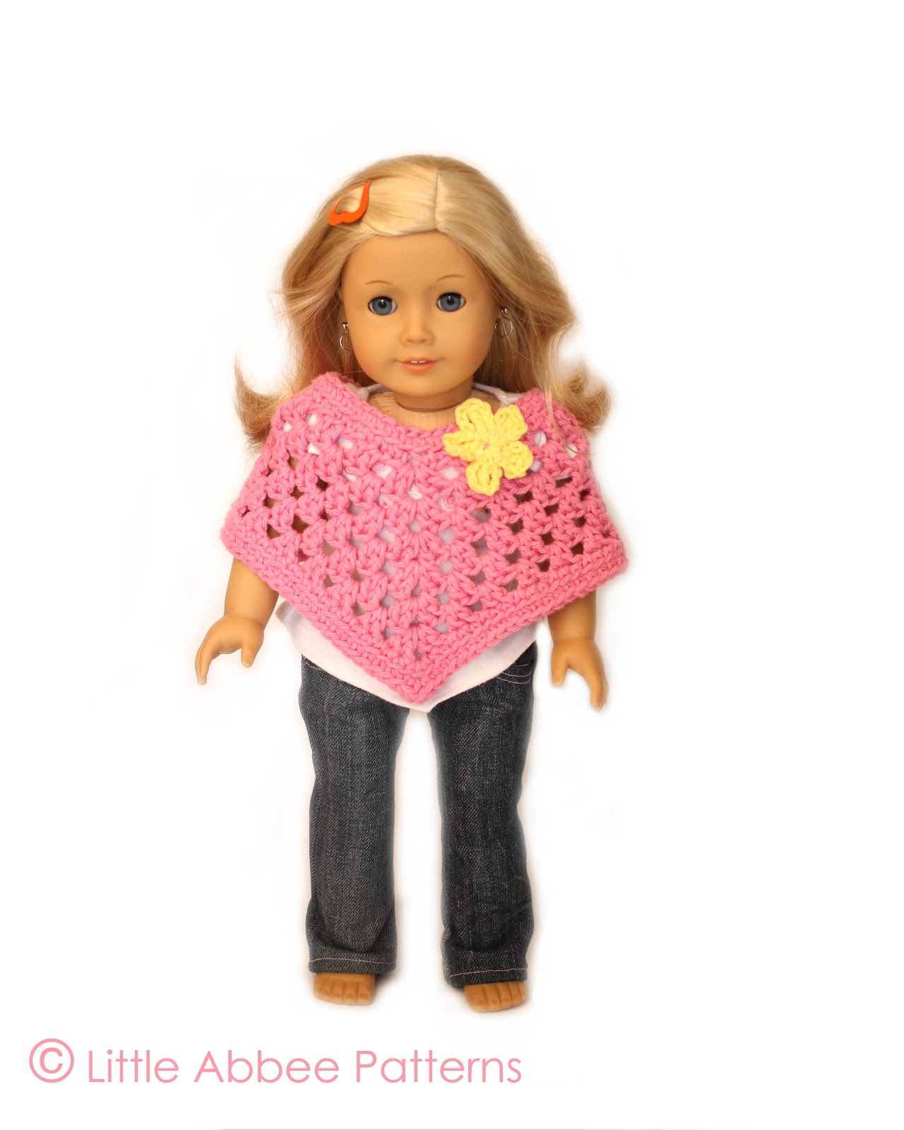 Little Abbee: Doll Poncho Pattern