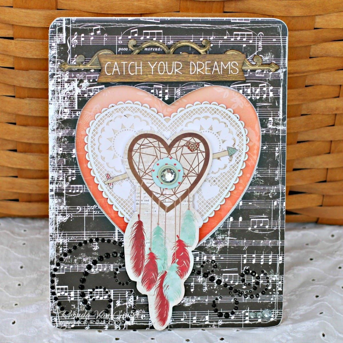 Catch Your Dreams Altered Picture Frame Home Decor by Rhonda Van Ginkel for BoBunny Featuring Star Crossed Collection