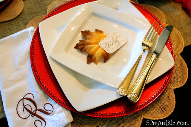 52 mantels thanksgiving table place cards for Table 52 thanksgiving