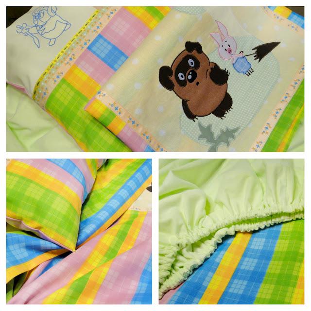Детское постельное белье Винни-Пух: бязь и фланель - подарок мальчику, подарок девочке