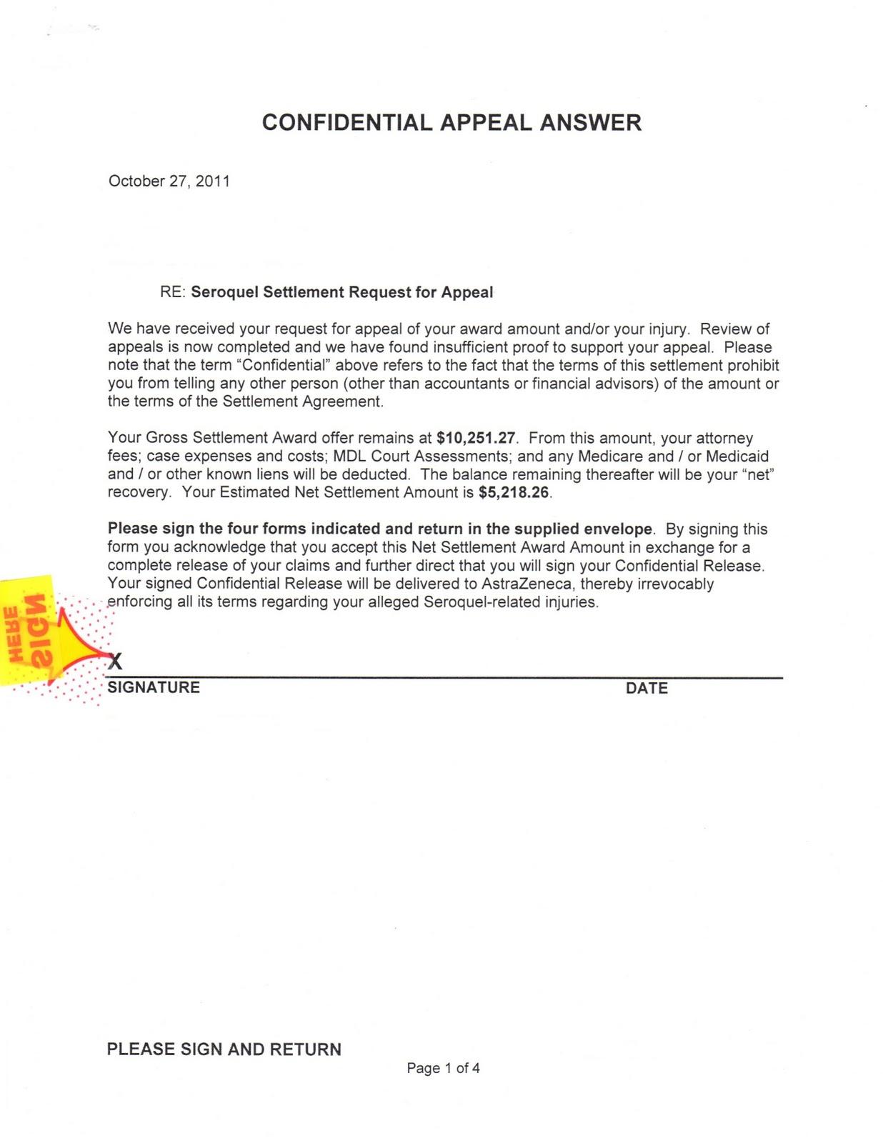 Sample Settlement Letter | Resume CV Cover Letter
