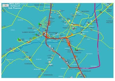 Peta Kota Pandaan
