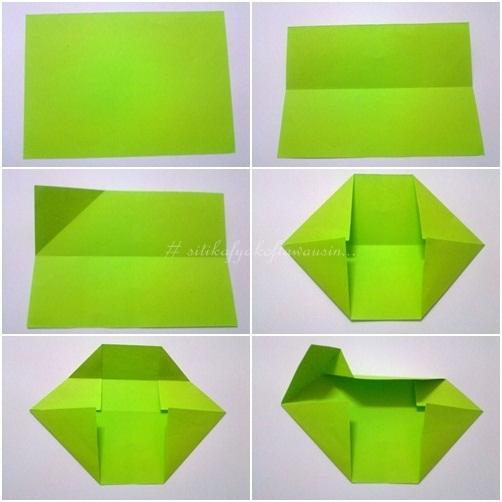 cara buat origami double heart (double love) | Siti Kektus