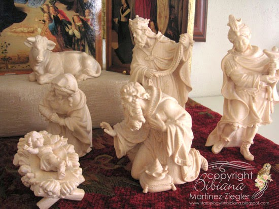 nativity kings italian wood carved