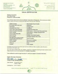 Shaklee HALAL Certificate 2018