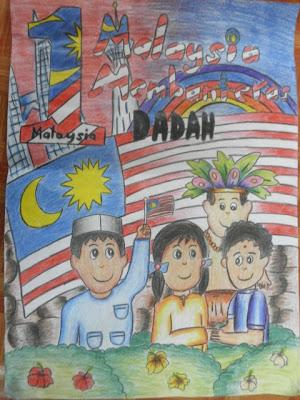 Panitia psv dsv sk parit kasan pertandingan melukis for Mural 1 malaysia