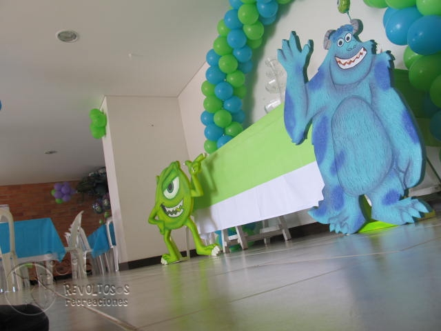 Fiesta de monster inc car interior design - Fiestas infantiles tematicas ...
