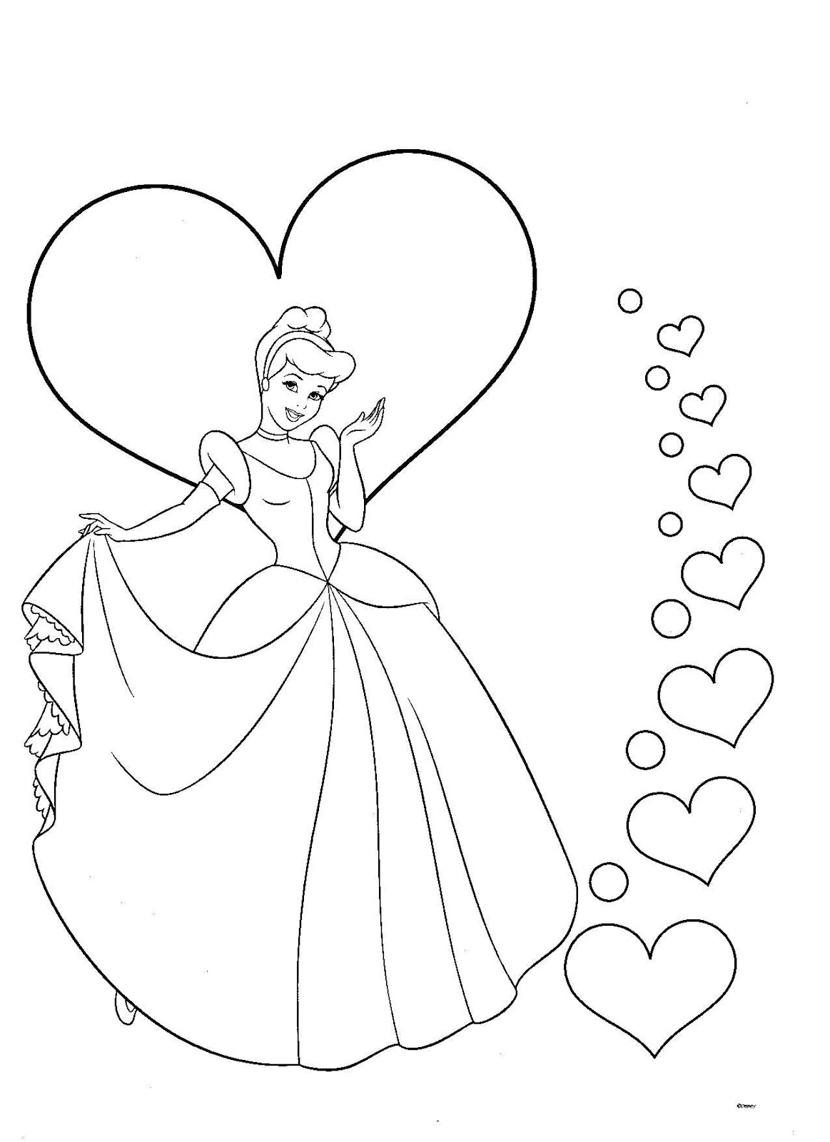 Dibujos para colorear pintar imprimir princesas for Immagini da colorare belle