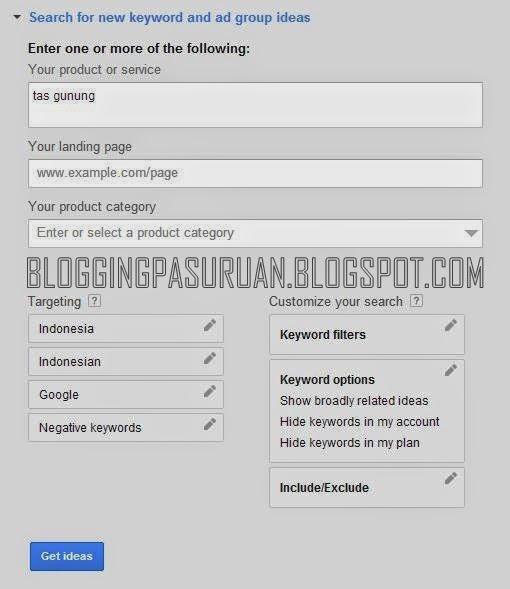 Cara Memilih Kata Kunci ( KEYWORD) Yang TEPAT untuk Blog
