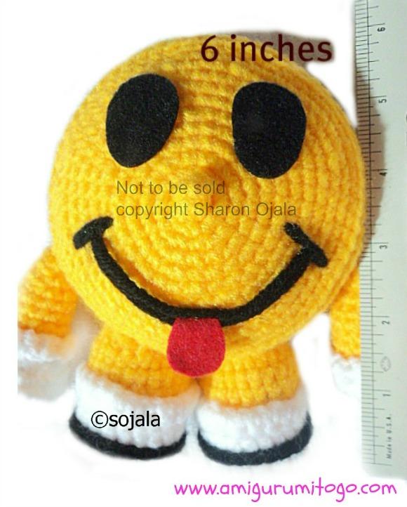 Smiley Happy Face Free Crochet Pattern ~ Amigurumi To Go