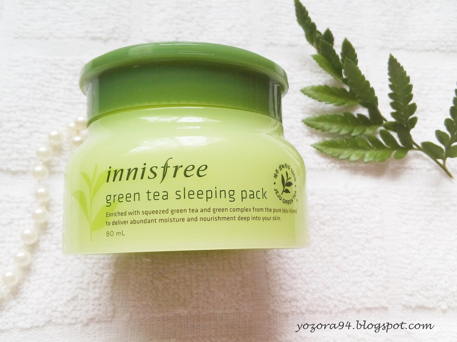 Review Innisfree Green Tea Sleeping Pack Ells Beauty Diary Orchid 80ml Product Description