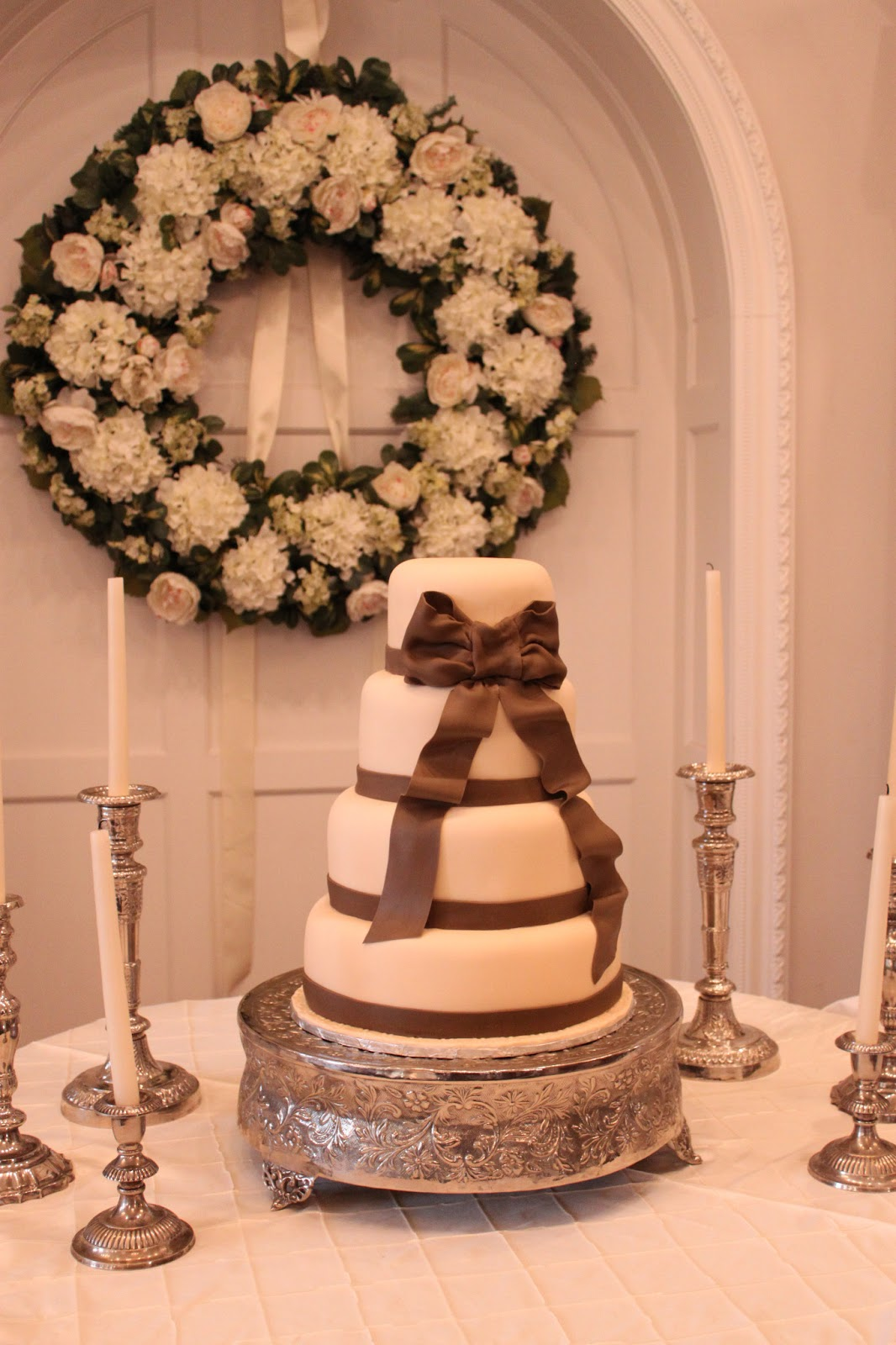 Layers of Love Elegant Bow wedding cake