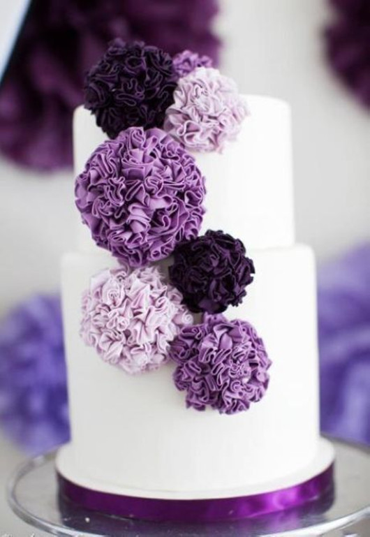 purple wedding inspiration cakes