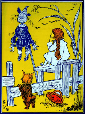 Wizard of Oz Dorothy Scarecrow Toto clipart image