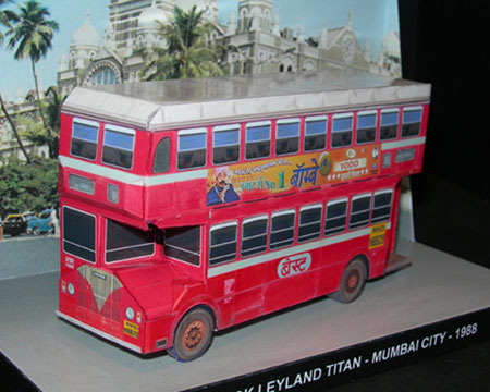 Double Decker Bus Ashok Leyland Titan Papercraft