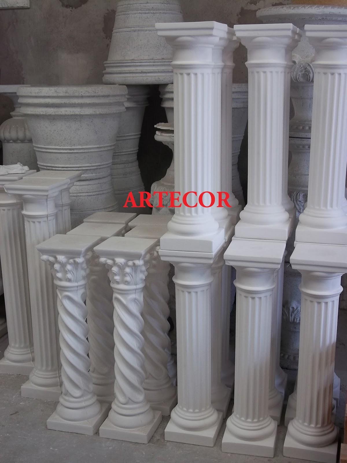 Columna de yeso decoracion - Columnas decorativas interiores ...