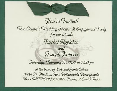As such the wording of wedding invitation speaks louder than one can