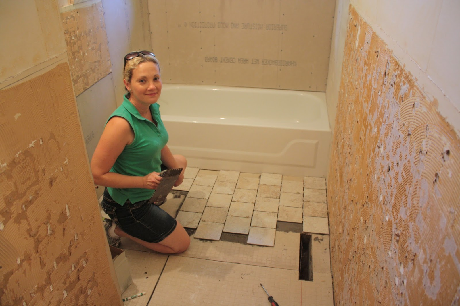Staggered tile cheap vapor glass subway tile kitchen backsplash affordable this is the tile from home depot we needed square feet it took several hours to lay it all down we laid them in a staggered pattern with dailygadgetfo Choice Image