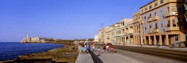 Vista del Malecon de La Habana, Cuba