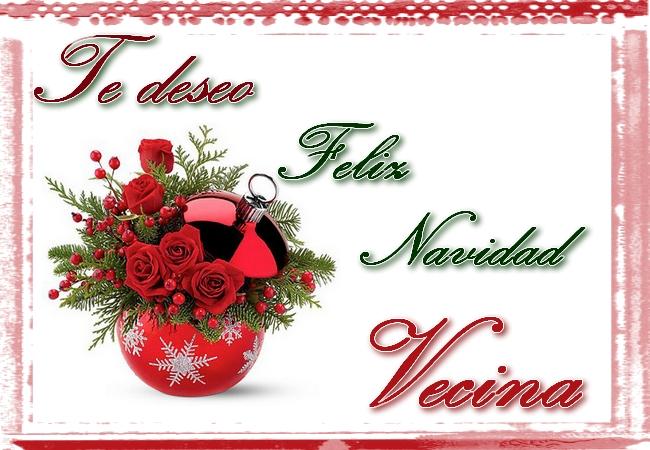 Te deseo feliz navidad vecina tarjetas cristianas - Felicitaciones de navidad cristianas ...