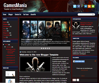GamesMania+Blogger+Template