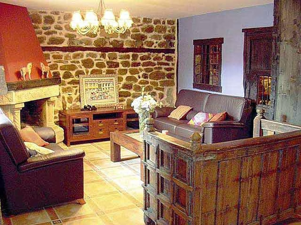 Decoracion Rustica De Casas Interior De Una Casa Rural Con Las - Decoracin-casas-rusticas