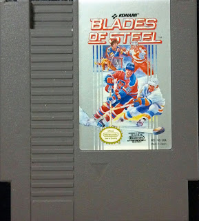 NES game cartridge for blades of steel by konami