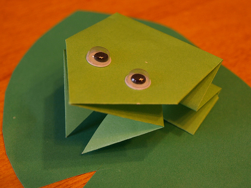 Easy Origami Frog For Kids