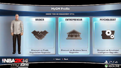 NBA 2K14 MyGM Profile
