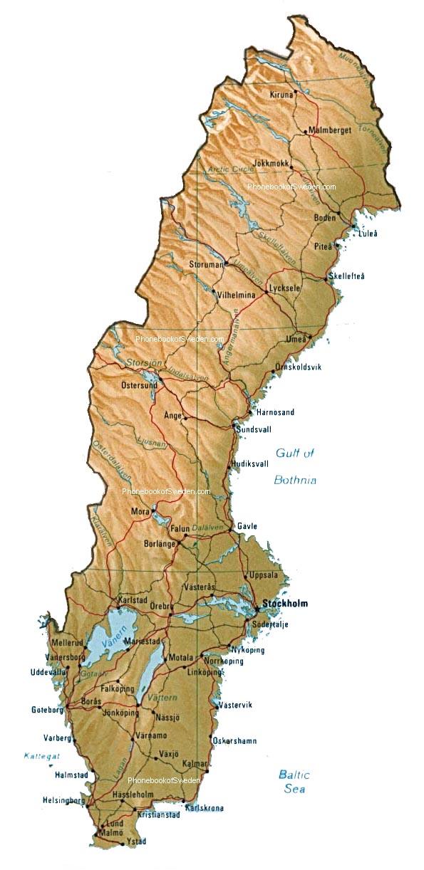... över Världen Stad Region Turism: Sverige Karta Province-området