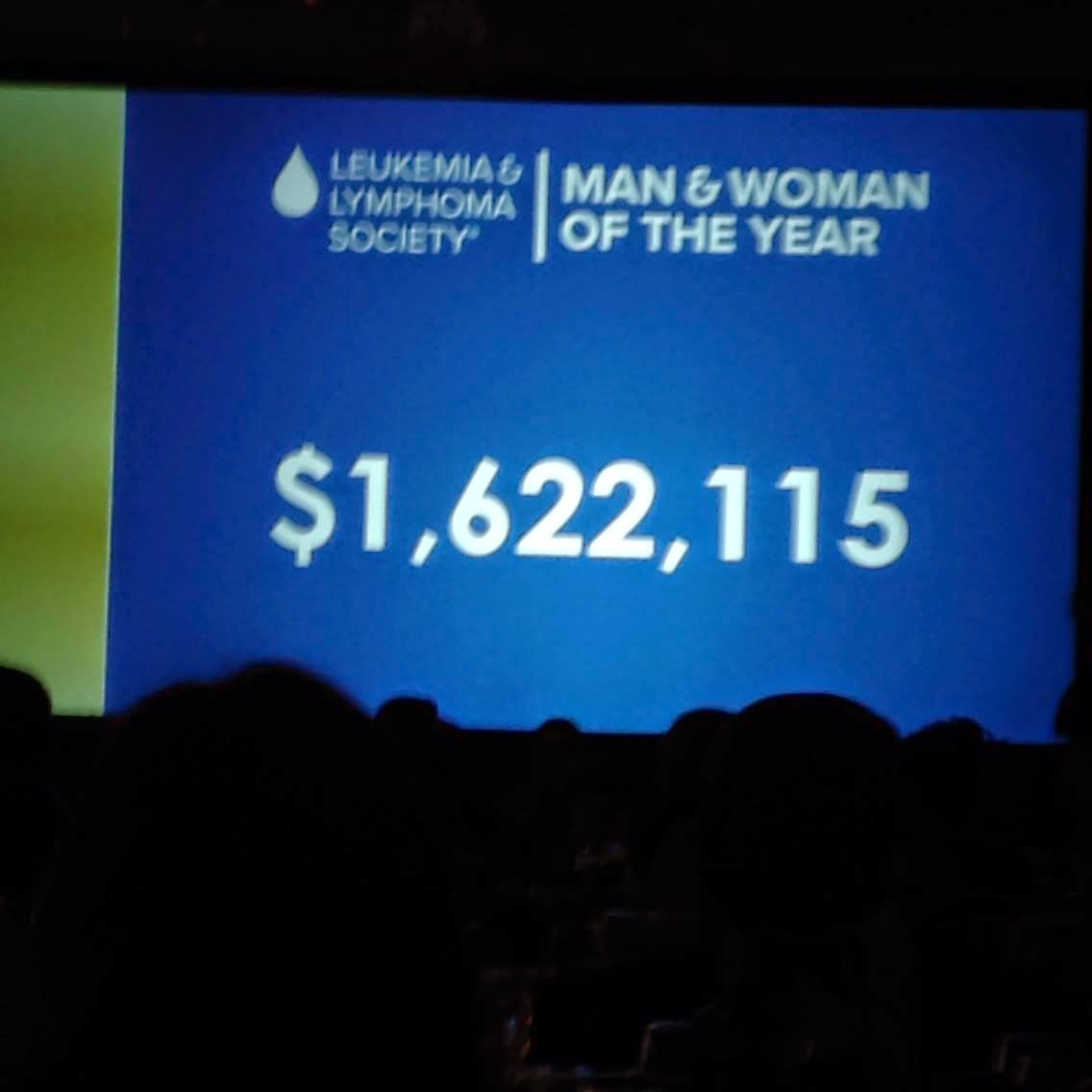 total money raised at 2014 Leukemia & Lymphoma Society Man & Woman of the Year campaign for the National Capital Area