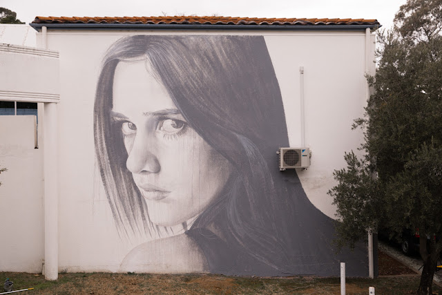 RONE just finished working on a brand new piece at the Embassy of Spain in the town of Canberra in Australia.