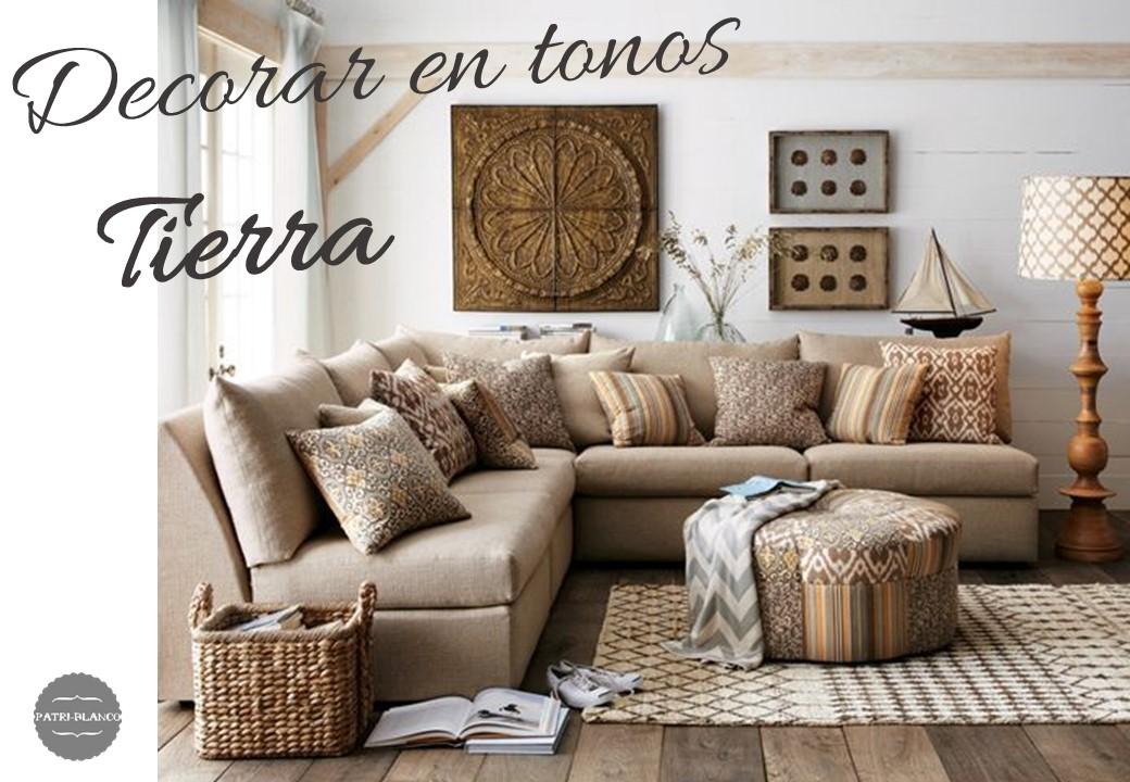 Ideas para decorar en tonos tierra decoraci n patri blanco - Colores tierra para habitaciones ...