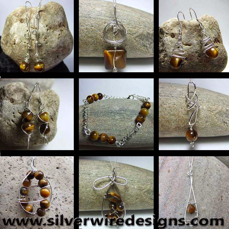 Tigers eye jewellery