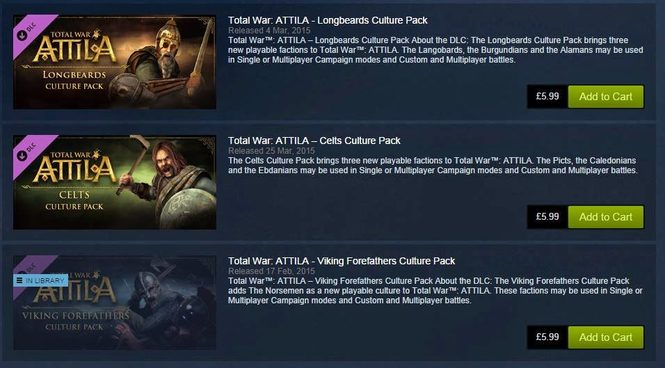 Total War Attila Day One DLC