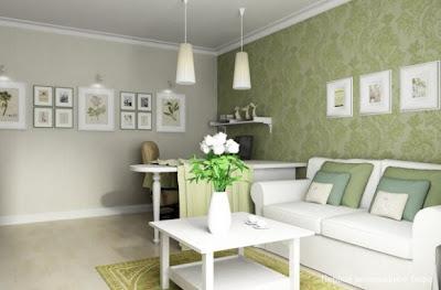 sala color verde pequeña