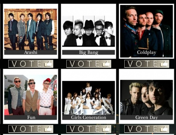 Big Bang, SNSD & Wonder Girls 2012 World Music Award