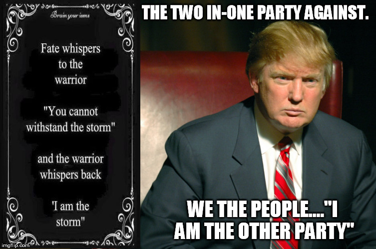 The Presumptive Philosopher Trump I Am The Other Party By Default