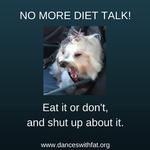 No Diet Talk Zone