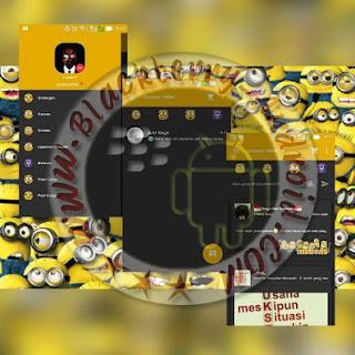 BBM MOD Versi 2.9.0.51 Tema Dark Minion V.02 Apk