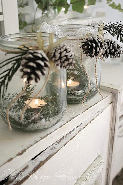 Party frosting winter party ideas pinecones - Pommes de pins decoration ...
