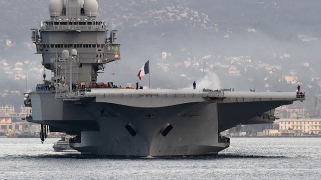 Το γαλλικό αεροπλανοφόρο Σαρλ Ντε Γκολ πλέει προς την κυπριακή ΑΟΖ